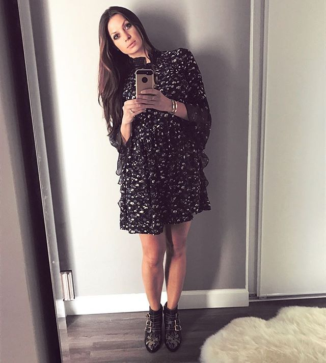Chloe k black dress and boots
