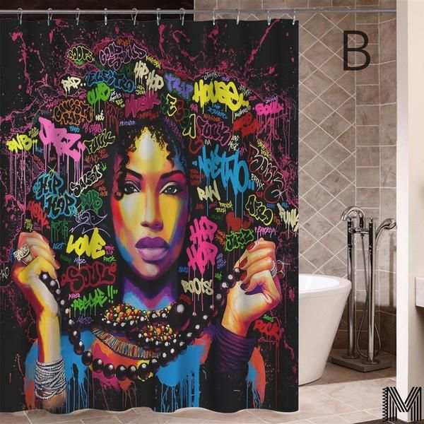 Melanin Women Shower Curtains Full Collection Fashion Wall