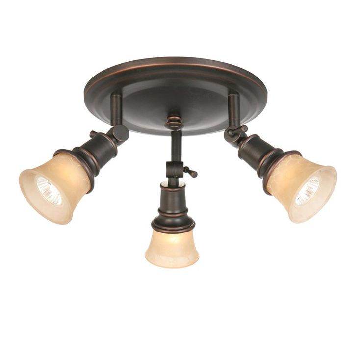 allen roth 3 light specialty bronze flush mount fixed. Black Bedroom Furniture Sets. Home Design Ideas