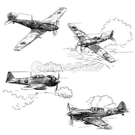 제 2 차 세계 대전 항공기 — 스톡 일러스트 #13777953