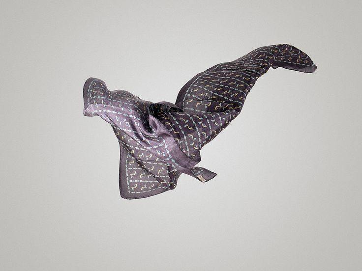 Dark grey silk scarf! Make it yours @ www.tsiakiris.gr