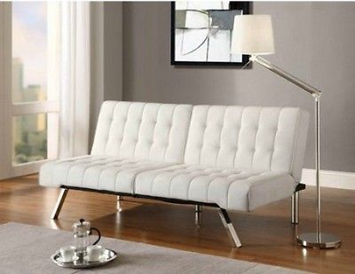 Futon-Sofa-Faux-Leather-Bed-Couch-Convertible-Modern-Sleeper-Lounge-Living-Room