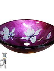 bloem gehard glazen vat wastafel met pop-up en ... – EUR € 121.59