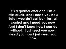 need you now lyrics - Google Search
