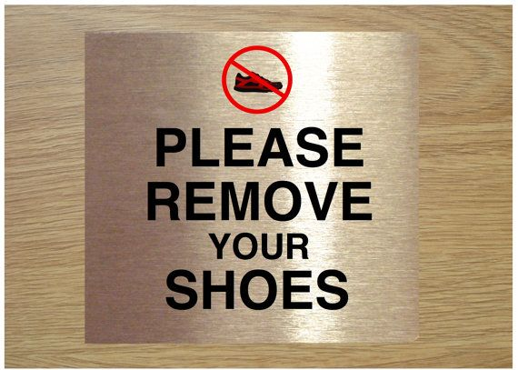 please remove your shoes sign pdf