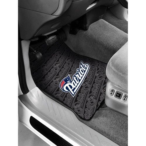 29 X 175 NFL Patriots Mat Set Car Floor Football Themed Sports Patterned Truck Non Slip Gift Fan Team Logo Fan Merchandise Athletic Spirit Black Blue Red Silver White Pvc