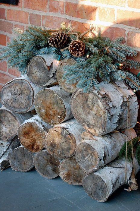 @Anna Totten Warren - Bois et pommes de pin - Noel - Wood - Winter