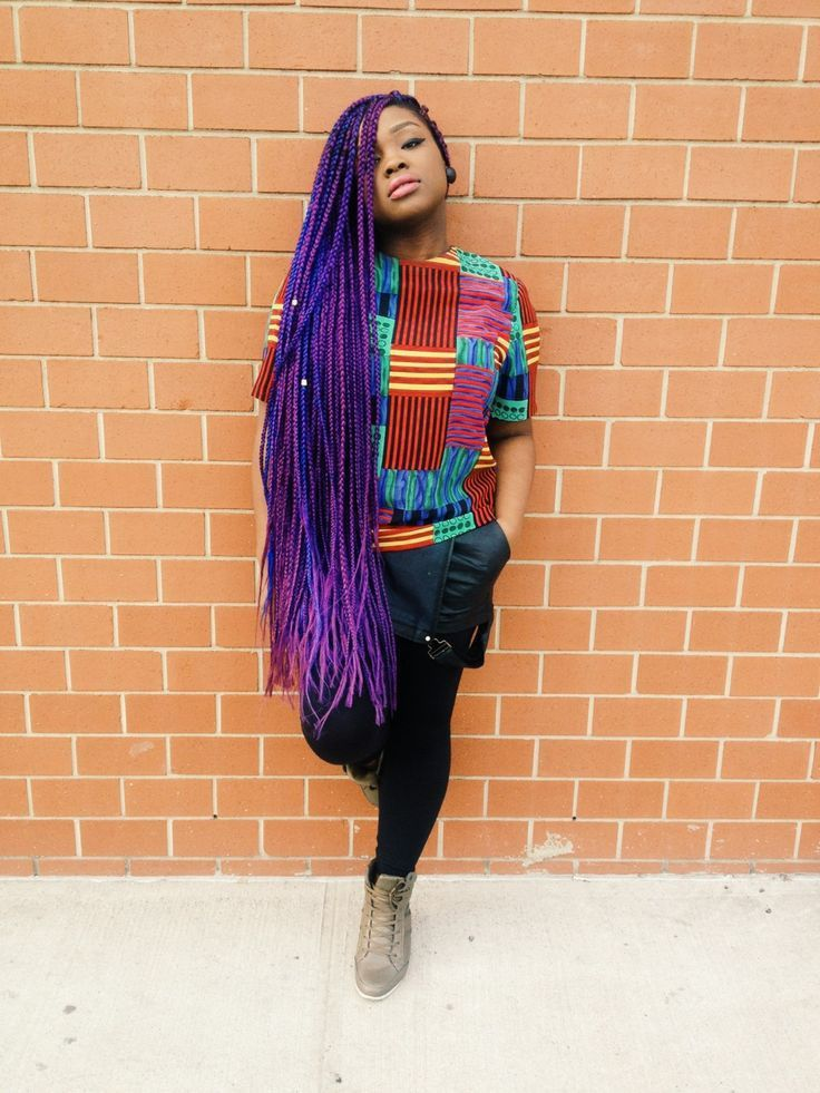 15 Women With Braid Extensions Styles Who Are Not Afraid Of A Little Vibrant Color