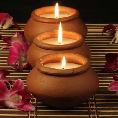Earthern lamp candles for Diwali