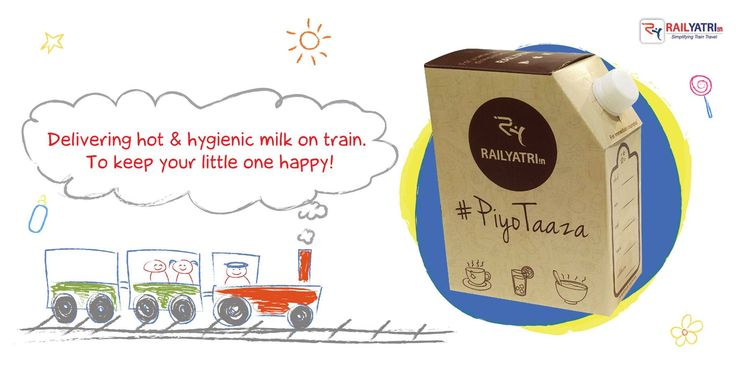 After hearing mothers & parents all across India, RailYatri presents a first-of-its-kind service called 'Taaza Sip' – A special innovation to deliver hot & fresh milk for your little one in hygienic & sealed flasks. Now get milk that is safe & healthy in the comfort of your train seat. Download our App & experience this service now.   https://www.railyatri.in/foods/find-meal-option #App #FoodOnTrain #PiyoTaaza #Milk #Mothers #Parents #LittleBabies #Kids #Trains #Travel #Tryitnow