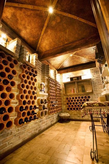 mediterranean, rustic wine cellar
