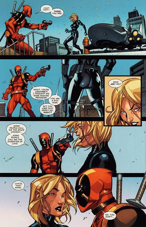 """Maybe Marvel Studios could """"steal"""" Deadpool back from Fox in a #BlackWidow flick?"""