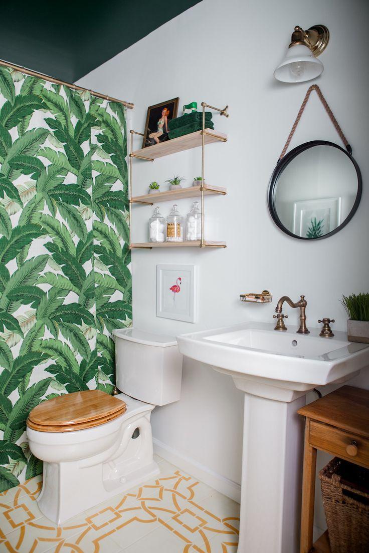 Tropical Bathroom Bathroom Decor Boho Bathroom Tropical Bathroom