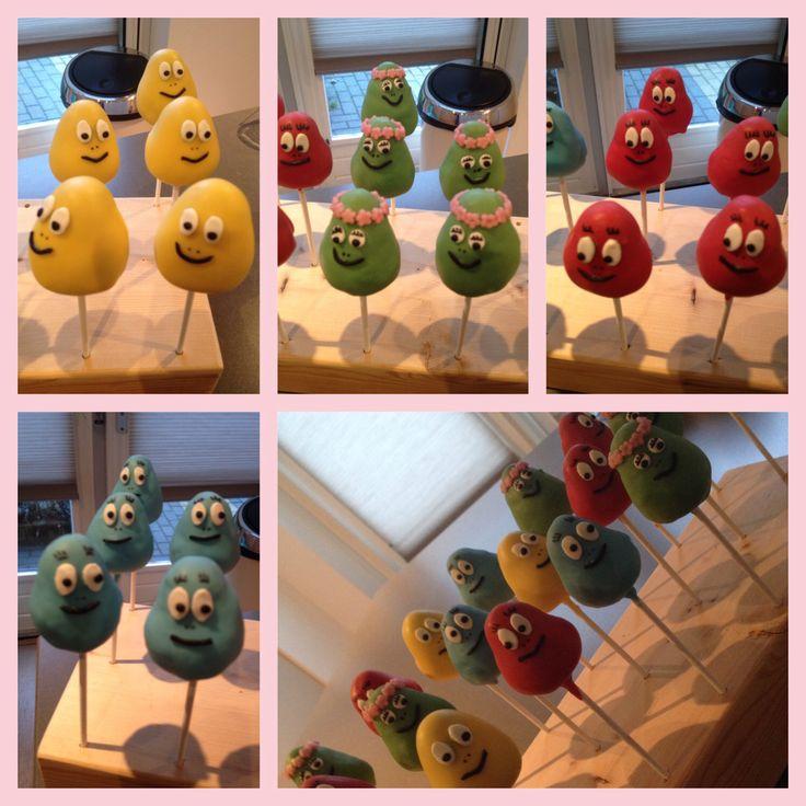 Barbapapa cakepops