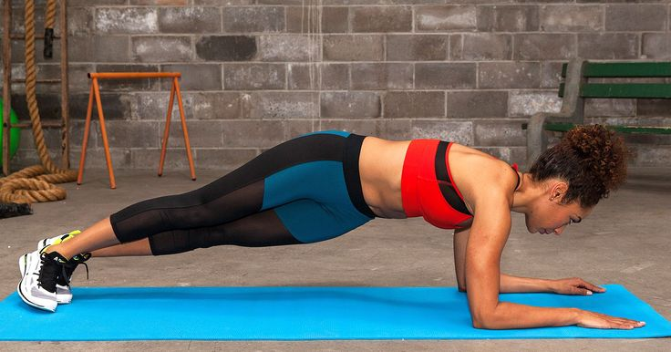 Up for a more intense plank challenge? Try dipping your hips from side to side.