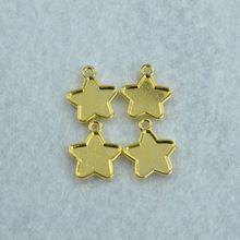 Новинка 50 шт. позолоченный подвески diy металлические звезды подвески для ожерелья и браслеты ювелирных изделий 18 * 15 мм 1583(China (Mainland))