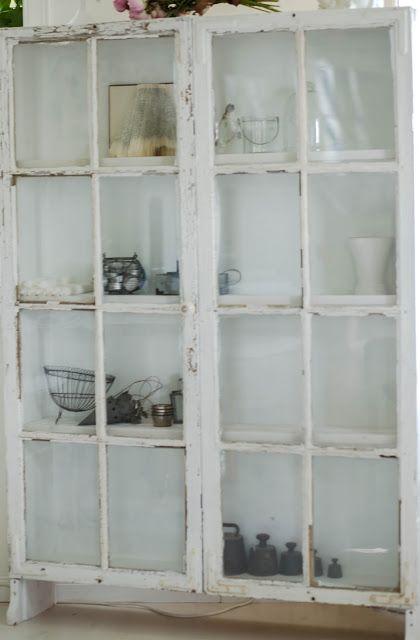 Huset på landet: Gamla fönster blir skåp
