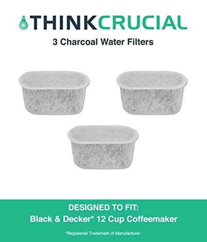3 Premium Black  Decker Charcoal Water Filters Fits 12 Cup Coffee Machines by Think Crucial -- Click image for more details.Note:It is affiliate link to Amazon.