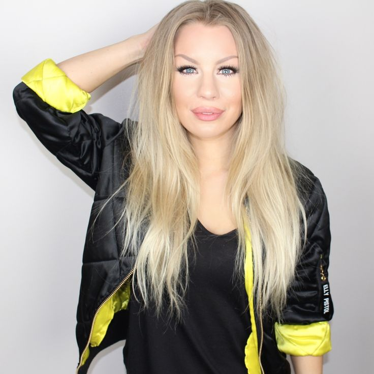 Therese Lindgren in our Bomber Jacket- Bomber Coco