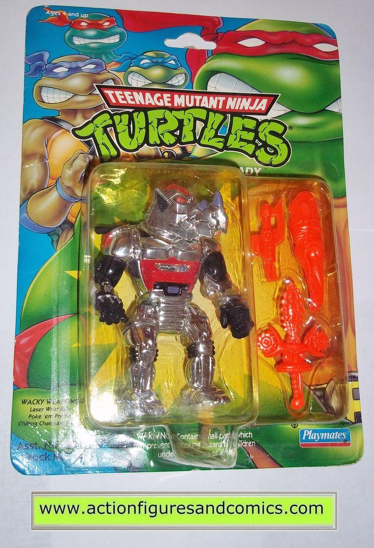 teenage mutant ninja turtles ROCKSTEADY ROBOTIC 1993 vintage playmates toys mib moc mip tmnt #712
