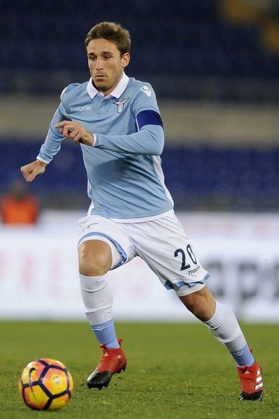 Lucas Biglia of SS Lazio in action during the TIM Cup match between SS Lazio and Genoa CFC  at Olimpico Stadium on January 18, 2017 in Rome, Italy.