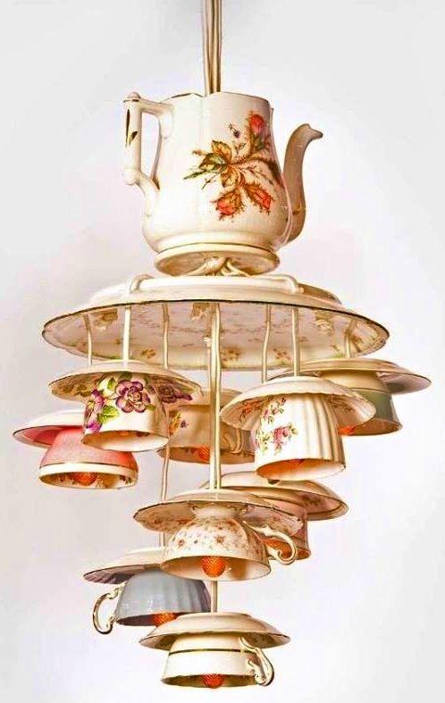 Upside down tea cups via www.TheRabbitHoleRunsDeep.Blog.com