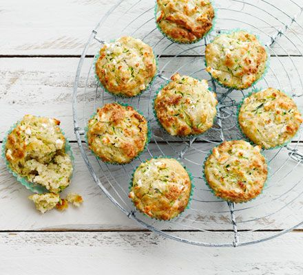 These cheesy muffins are a great way to get savoury flavours into portable baked bites - great packed as a lunch box snack