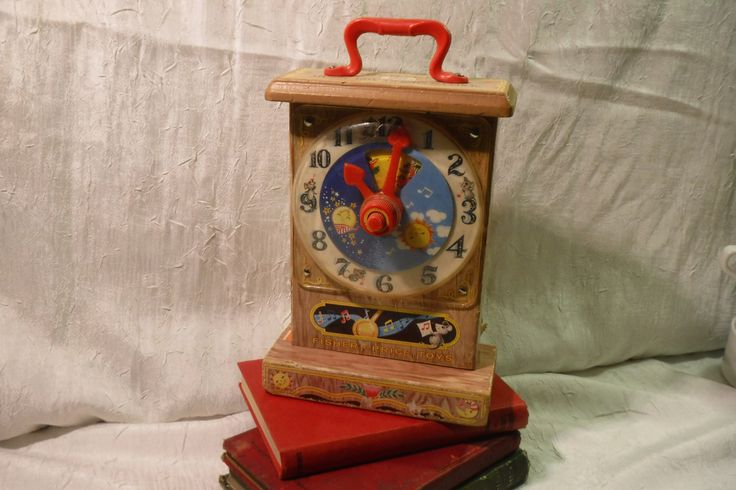 Fisher Price Musical Tick Tock Clock / How to tell time Teaching Clock / 1960's / Children's Toy by OriginalVintageGypsy on Etsy