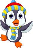 Cute Penguin In Winter