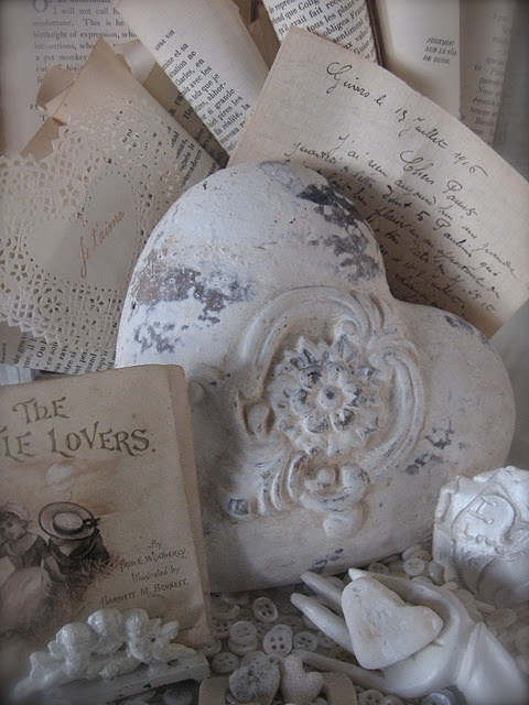 ♥'s and old paper...love