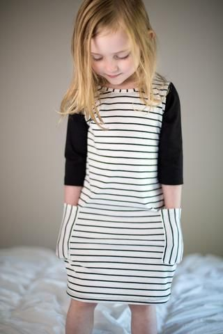 3f1ae5a9a050 Black / Stripe Pocket T-shirt Dress | '♛ Kids Fashion and Trends ...