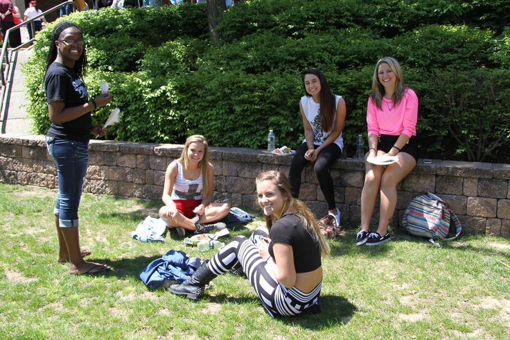 Students on the Quad enjoying the Spring Day celebrations.