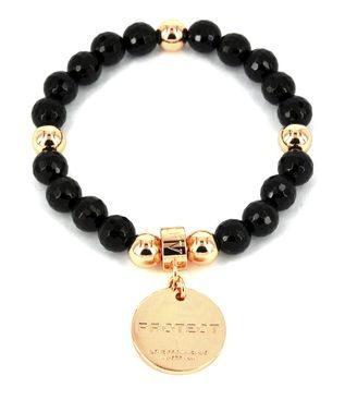 Love From Venus Onyx and Rose Gold Plated 'Protect' Bracelet on www.lilyandmitchell.com.au