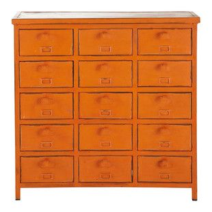 Industrial Dresser in Orange - Edison