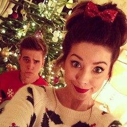 Zoella and Thatcher Joe. Bro and sis zoe sugg and joe sugf