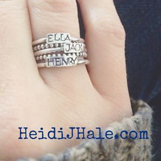 #heidijhale totally want the 5 ring-4 spacer set with the names of my kids!