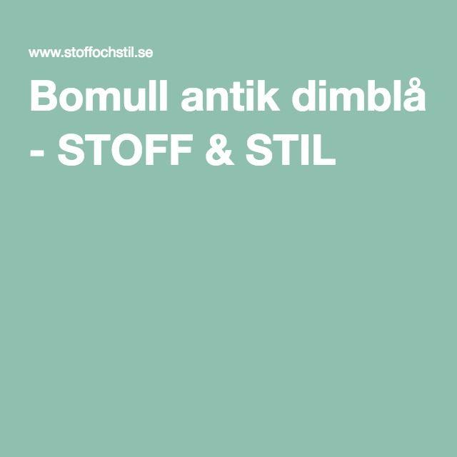 Bomull antik dimblå - STOFF & STIL
