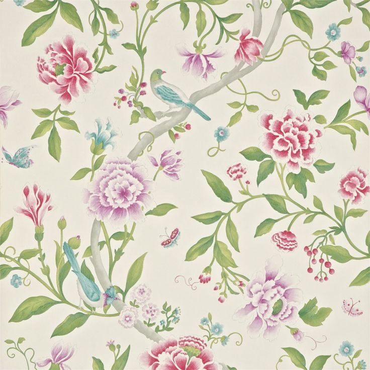Sanderson - Traditional to contemporary, high quality designer fabrics and wallpapers | Products | British/UK Fabric and Wallpapers | Porcelain Garden (DCAVPO106) | Caverley Wallpapers