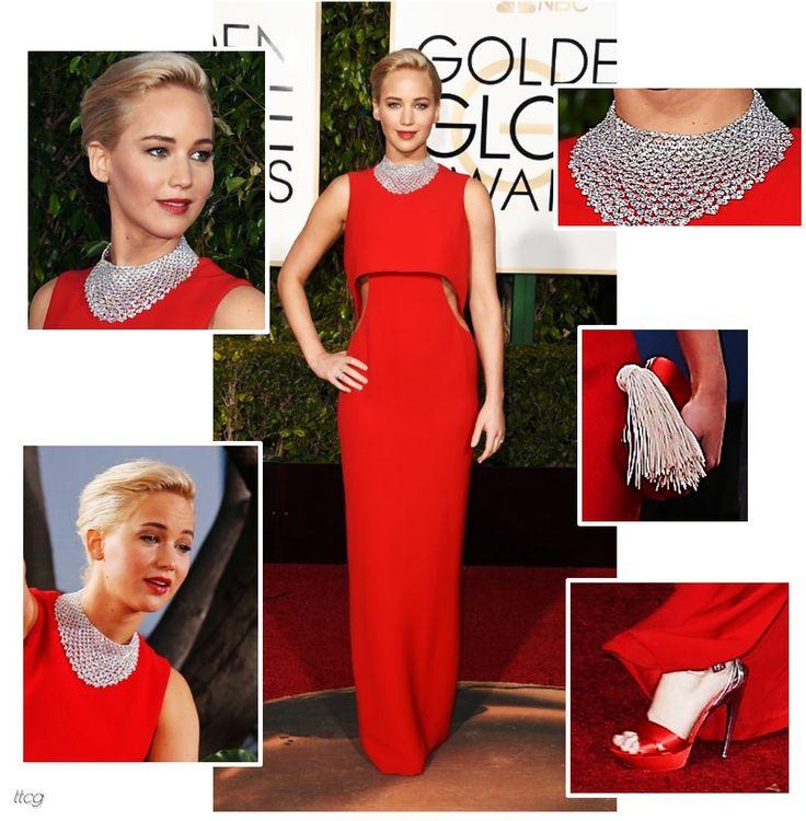 Jennifer Lawrence at the 2016 Golden Globes in Dior