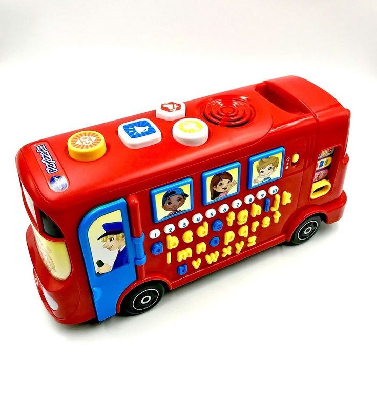 VTECH INTERACTIVE PLAYTIME BUS TEACHES PHONICS SOUNDS LETTERS NAMES NUMBERS kids