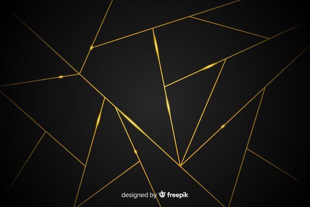 Dark Background With Golden Lines Dark Backgrounds Geometric Art Geometric Background Black colour wallpaper full hd
