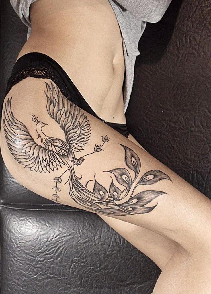 Phoenix Tatoo Design in 2021   Phoenix tattoo design, Neck tattoo, Hip tattoo
