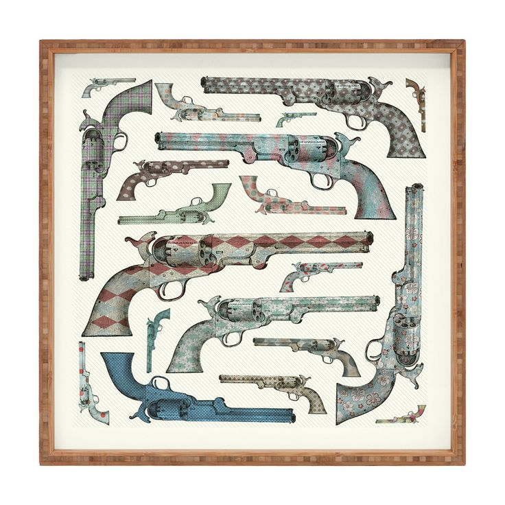 Belle13 Vintage Pistols Square Tray | DENY Designs Home Accessories