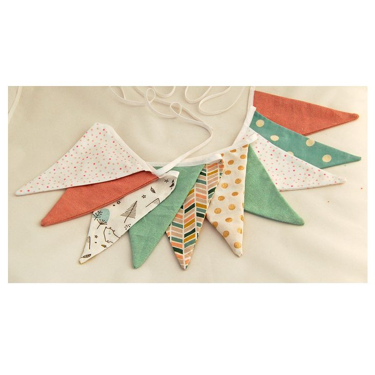 Bunting banner, Bunting flags, Nursery decor, Nursery garland, Room decor, Party decorations, Cloth banner, Fabric garland, Unisex gift