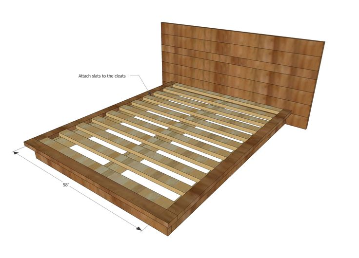 Ana White | Build a Rustic Modern 2x6 Platform Bed | Free and Easy DIY Project and Furniture Plans