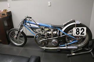 OldMotoDude: Triumph Drag Bike on display at Fay Myers Motorcyc...