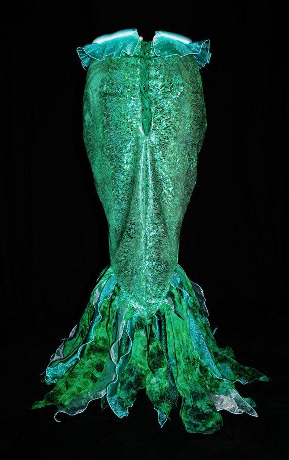 Adulto pequeño Mermaid Fin sólo por NeverbugCreations en Etsy
