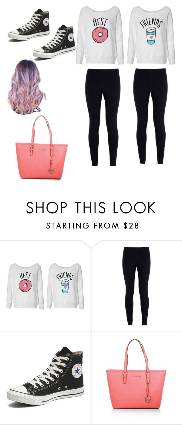 """""""Best frends 4-ever"""" by emilylois ❤ liked on Polyvore featuring NIKE, Converse and Michael Kors"""