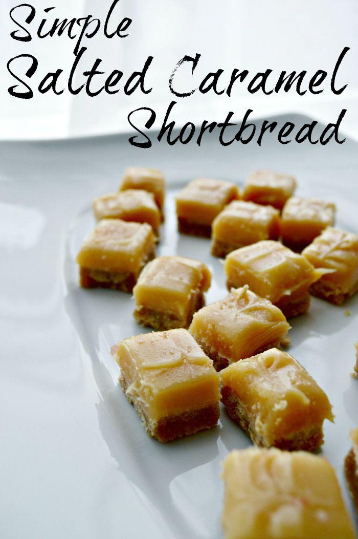 Simple Salted Caramel Shortbread