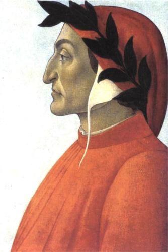Portrait of Dante - Sandro Botticelli.  c.1495.  Tempera on canvas.  54.7 x 47.5 cm.  Private collection.